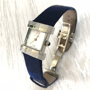 Burberry Classic Plaid Ladies' Silver Blue Watch